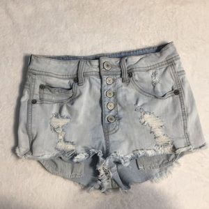 Kendall and Kylie High Waisted Jean Shorts